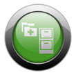 "Green Metallic Orb Button ""Medical Records"""