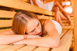 Sauna wellness - Female friends in spa