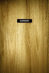 surgery sign on door