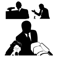 Business/political speaker silhouettes
