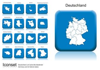 Icon Set, Deutschland und seine Bundesländer