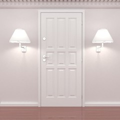 twoo lamp on thr wall