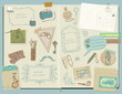 Scrapbook Design Elements - Gentlemen's Accessories doodle colle