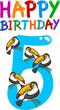 fifth birthday anniversary design