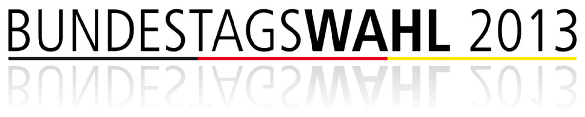 Bundestagswahl 2013 Schriftzug