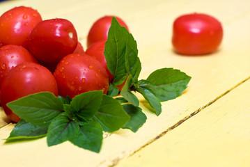 Tomatos and basil