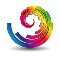 abstract swirl business icon