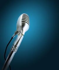 Retro style microphone.
