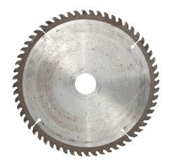 Circular saw isolated over a white background