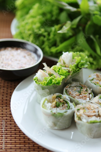spring rolls with vegetable