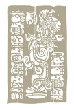 Mayan Vision Serpent and Glyphs poster