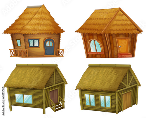 Set of cabins