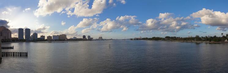 Intercoastal waters at West Palm Beach, Florida, USA