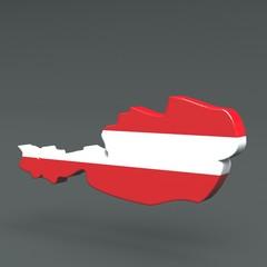 3d Karte Österreich