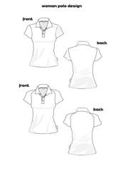 basic woman polo shirt design
