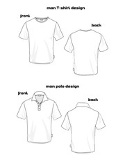 basic man polo and shirt design