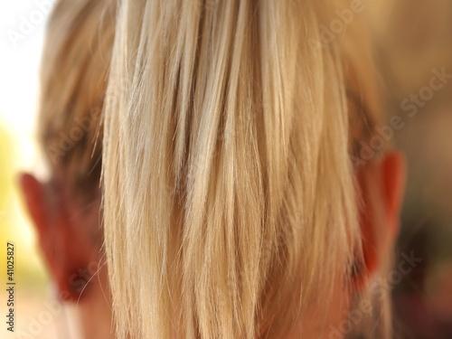 Blonde Haarpracht