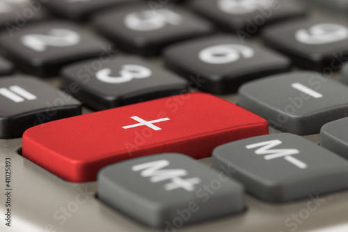 Calculator plus button