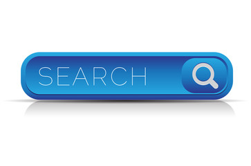 Blue vector search button