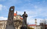 Taras Shevchenko monument in Lviv (Lemberg) poster