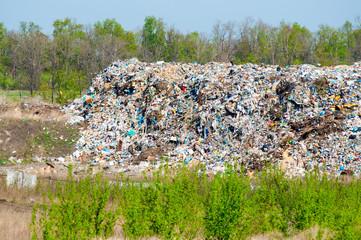Municipal landfill for household waste in Kharkov. Ukraine