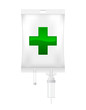 Intravenous dropper icon with cross