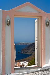Open door with Ia view