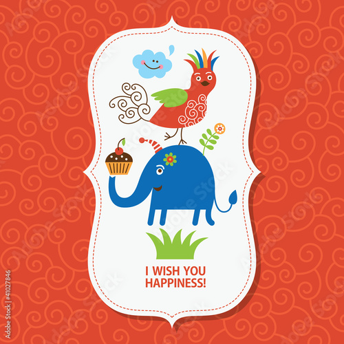 Children's greeting card