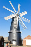 windmill in Heckington, East Midlands, England poster