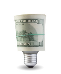 lamp with dollars