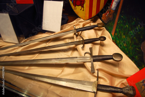 Italy, Ravenna old medieval swords