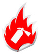 Fire extinguisher vector sticker