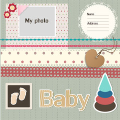 Baby scrapbook elements