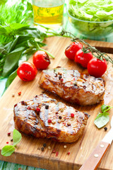 Veal loin steak
