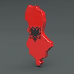 3d Karte Albanien