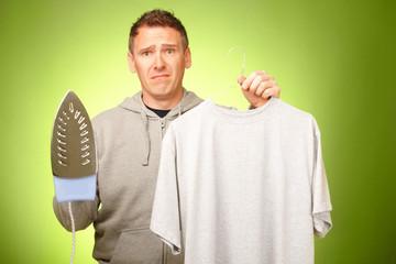 Man unhappy with iron