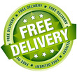 "Button Banner ""Free Delivery"" Green"