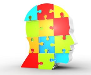 puzzle kopf