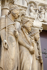 Paris - detail from side east portal of Saint Denis