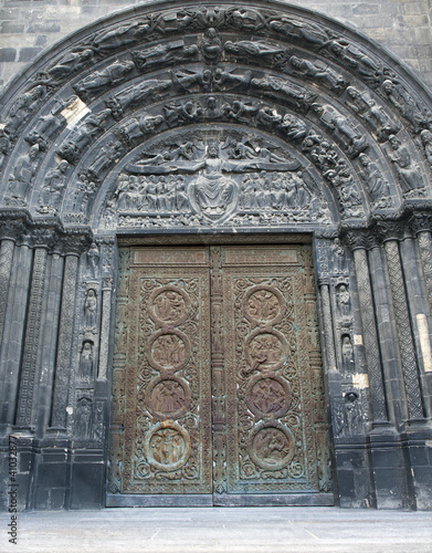 Paris - main portal of Saint Denis