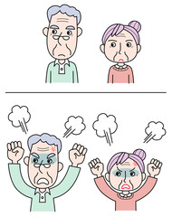 怒る老夫婦