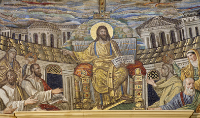 Rome - mosaic of Jesus the Teacher from Santa Pudenziana