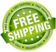 "Button Banner ""Free Shipping"" Green"