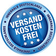 """Button """"Versandkostenfrei innerhalb Deutschlands"""" blau"""