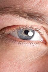 Man's eye macro