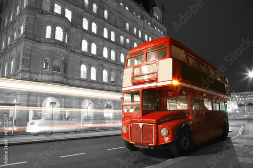 Staande foto Londen rode bus London Route Master Bus