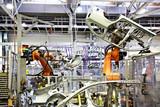 robots in a car factory - Fine Art prints