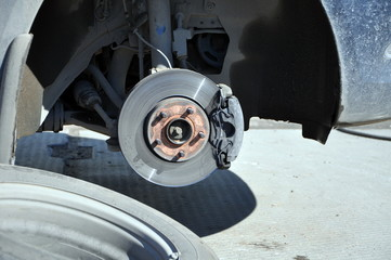 Brake disk of the car