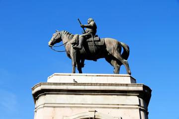 Statue von Artigas in Montevideo