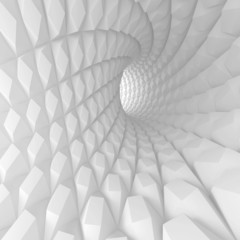 Abstract Spiral Tunnel Render © Max Krasnov